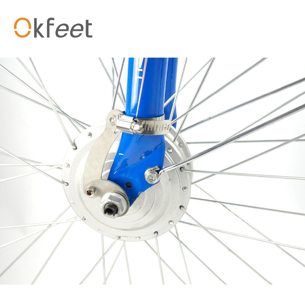 Okfeet torque arm electric bicycle conversion kit for v brake safely