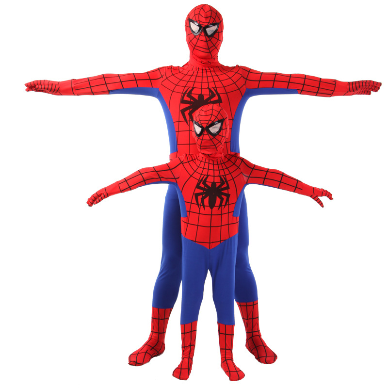 The Amazing Spiderman Costume  Original Movie Halloween Spandex Spiderman Superhero Costume fullbody zentai suit Free Shippin