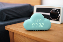 1Piece little clean fresh Creative novelty Sound Control Led USB Cloud Alarm Clock home decor good gift for girls