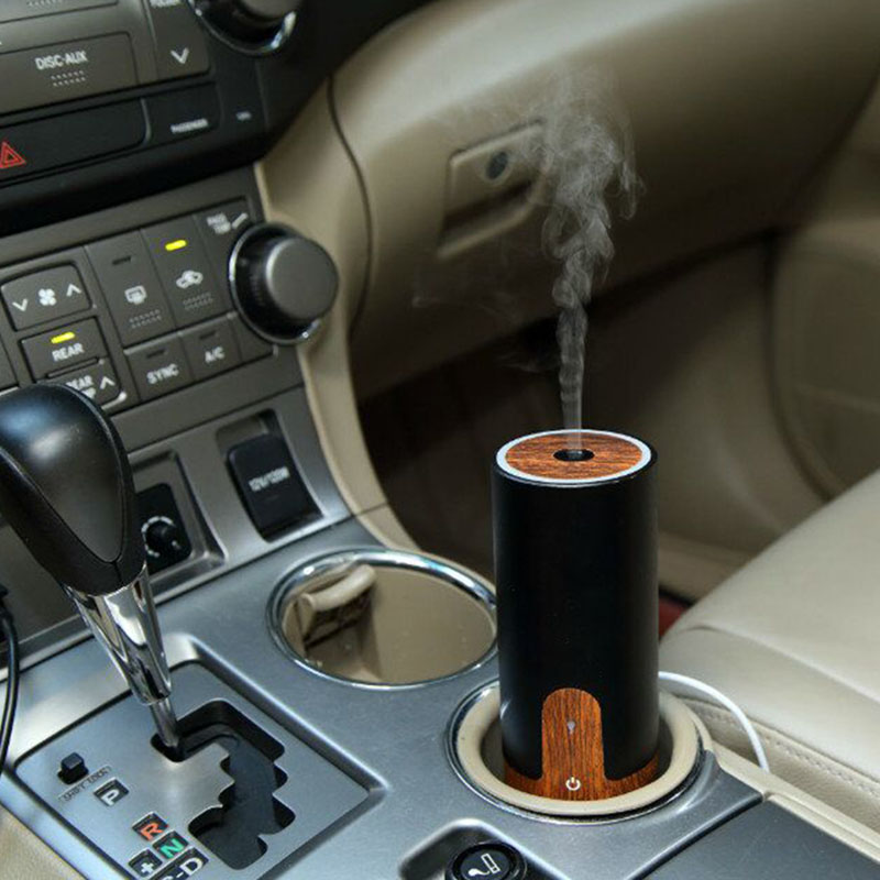Wood Grain USB Car Air Humidifier Ultrasonic Aroma Diffuser Mist Maker Mini Portable Air Purifier 4 Colors