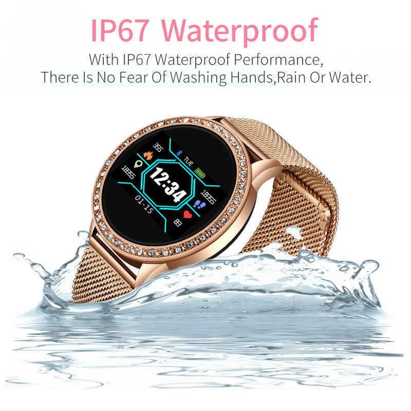 Đồng Hồ thông minh Smart Watch Nữ Chống Thấm Nước Đồng Hồ Thông Minh Smartwatch Nhịp Tim Theo Dõi Huyết Áp Suất Vòng Tay Thể Thao Dành Cho iPhone iOS Android Đồng Hồ