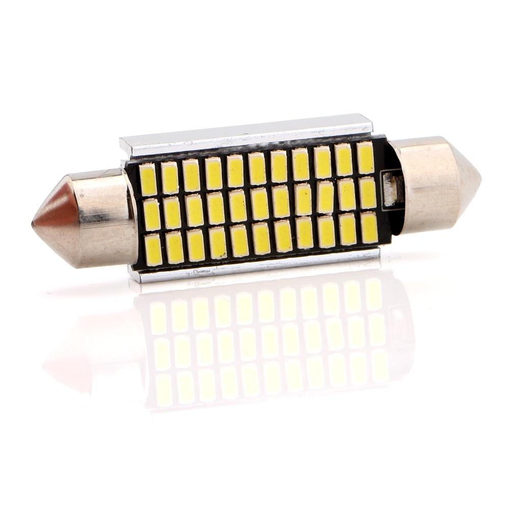 4-200pcs 41mm Festoon C5W Canbus 3014 33 SMD LED Bulb Light Pate Number Light Reading Light Cars Lamp Signals 12V Free Shipping