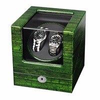 высокий конец 2 слоты дерево часы шпм модные automantic самостоятельно ветер механические часы смотреть моталки хранения дисплей подарок коробки