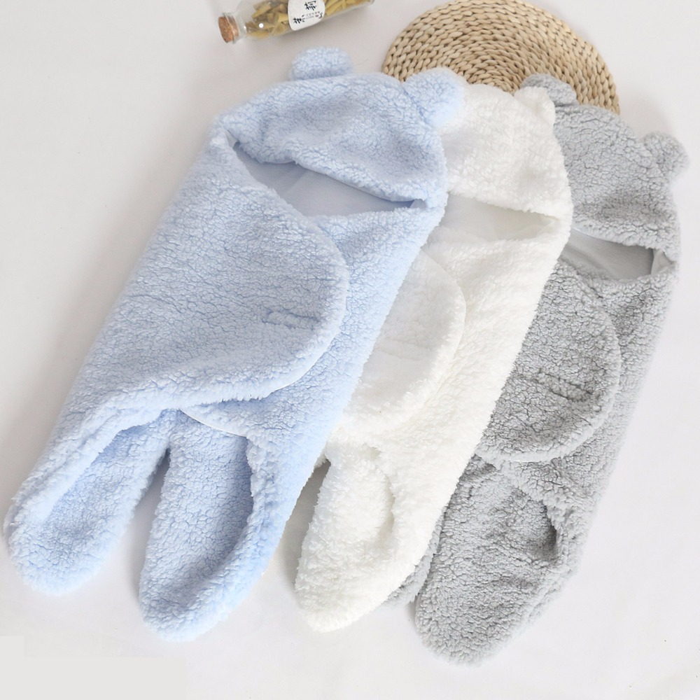 Winter Baby Swaddle Thick Warm Fleece Envelopes For Newborns Infant Wrap Baby Bedding Sleeping Bag Nursling Sleeping Plush 0-12M warm baby stroller sleeping bag fleece prams footmuff infant swaddle wrap envelopes for newborns baby blanket 4 colors sleepsack