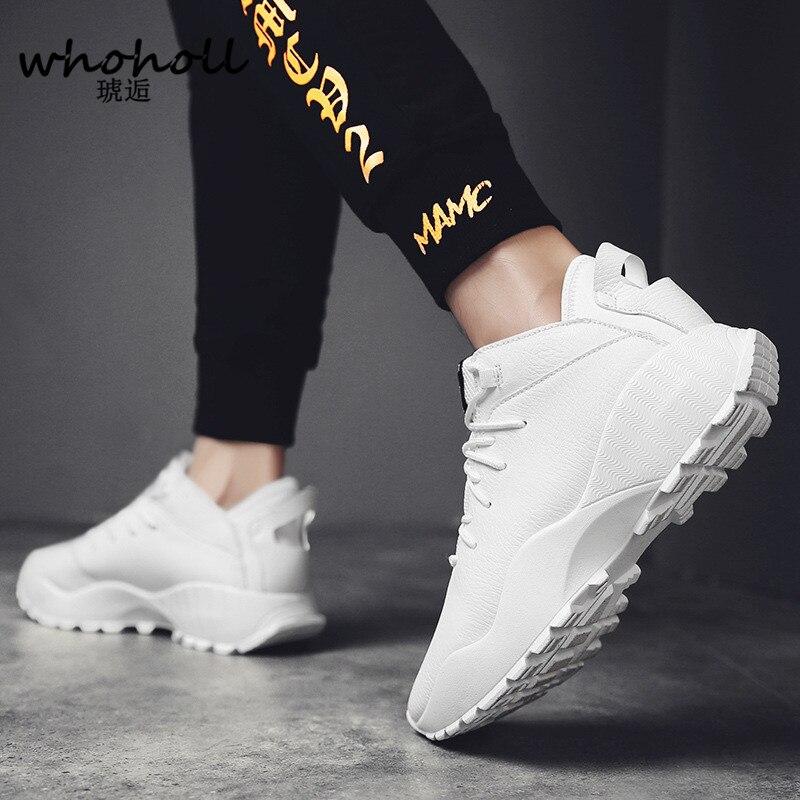 blanc Zapatos Occasionnel Printemps Pu Luxe Hombre De Noir Whoholl En Chaussures Adulte Sneaker 2018 Hommes Baskets Ballerines Noir Cuir UqvxwSZ5
