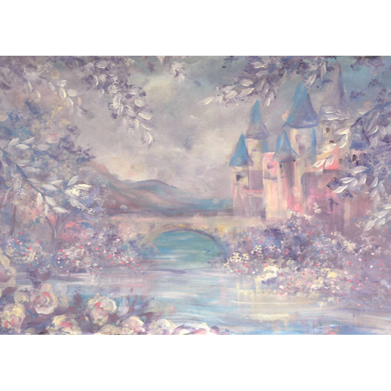 цена Wonderland Fairy Tale Photography Backdrops Watercolor Vintage Castle ZH-41 Thin Vinyl Background For Children Photo Studio онлайн в 2017 году