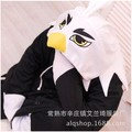 New Black Eagle Novelty Cartoon Fleece Pajamas Anime Adult Cosplay Animal Unisex Costume Pyjamas Sleepsuit Sleepwear Cosplay