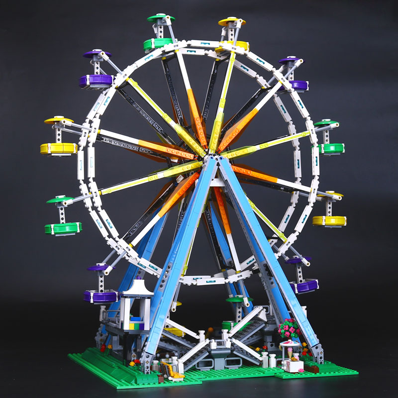 Compatible Legoe 10247 2478Pcs City Expert Ferris Wheel Model building blocks bricks toys for children  Lepin 15012 lepin city creator 3 in 1 beachside vacation building blocks bricks kids model toys for children marvel compatible legoe
