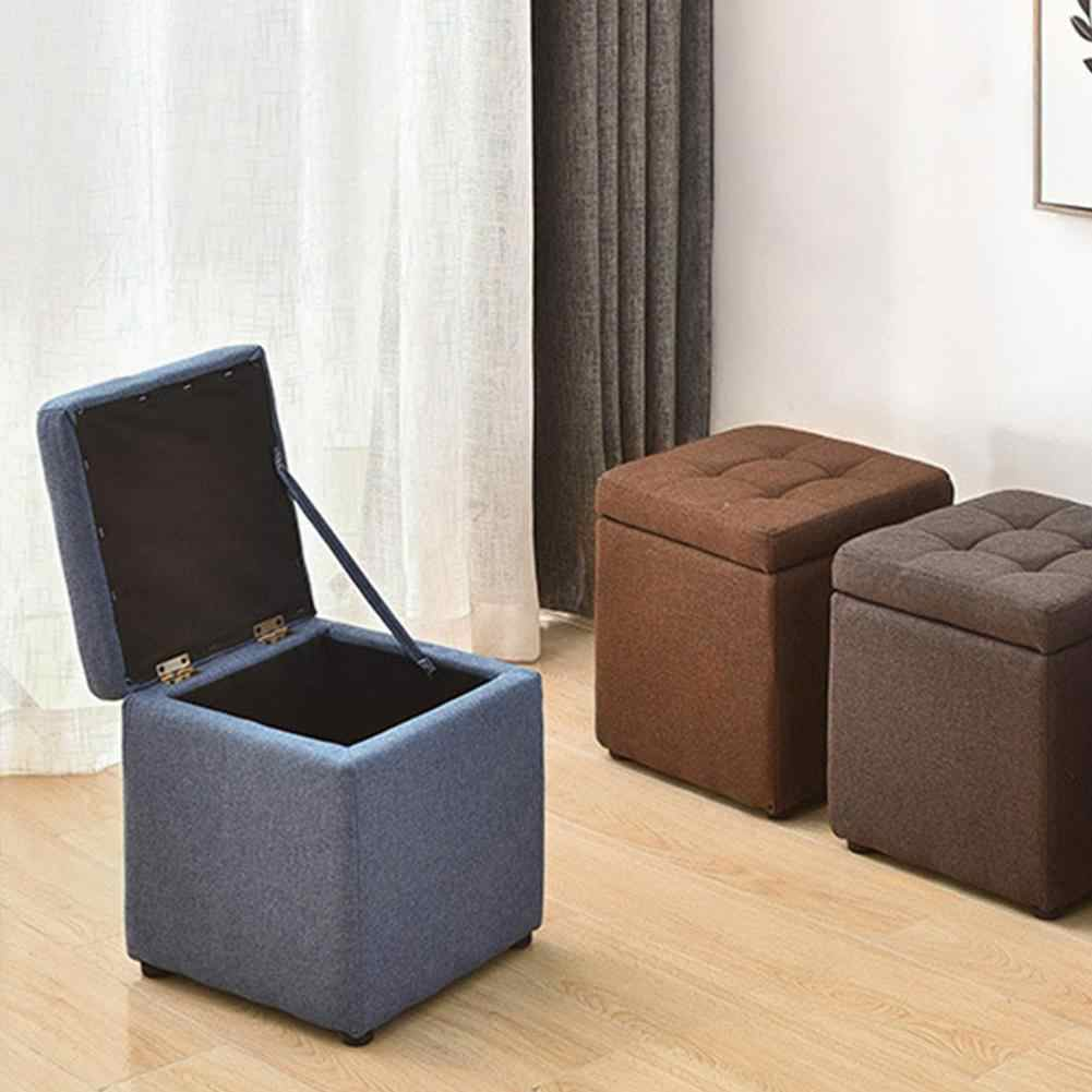 Innovative Sofa Stool Multipurpose Storage Box Stool Storage Footstool for Clothes Shoes Toys Magazines Home Organizers 20E