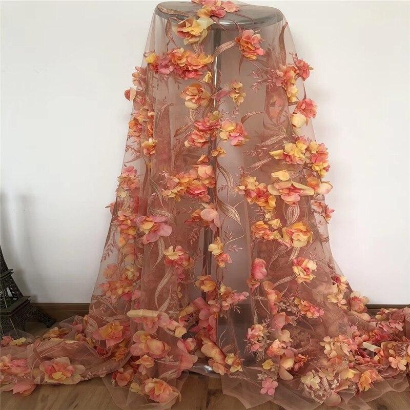 VILLIEA African lace fabric Soft 3D Flowers For Women Gorgeous Lace Dresses High Quality Nigerian Applique