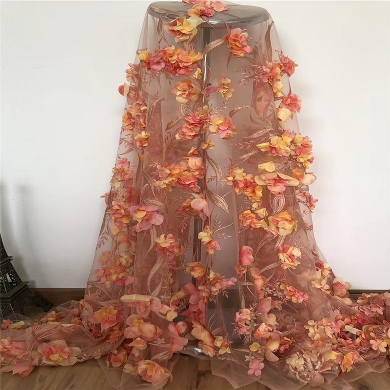 VILLIEA Africano del merletto tessuto Morbido 3D Fiori Per Le Donne Splendida Abiti di Pizzo di Alta Qualità Nigeriano Applique Tessuto di Pizzo-in Pizzo da Casa e giardino su AliExpress - 11.11_Doppio 11Giorno dei single 1