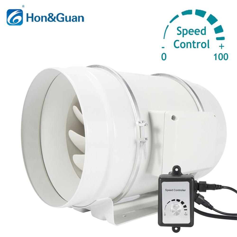 Ventilateur de conduit en ligne de Ventilation de 8 ''avec régulateur de vitesse Variable; ventilateurs d'échappement du moteur ce 110 V-240 V; régulateur de vitesse de 0 à 100%