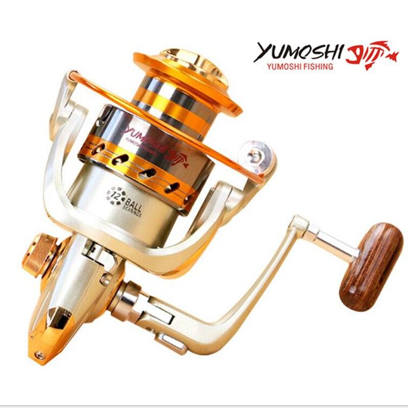 YUMOSHI Super Deal Del Metallo Spinning Mare Mulinello Da Pesca EF1000 2000 3000 4000 5000 6000 7000 8000 9000 Mare Mulinello Da Pesca affrontare