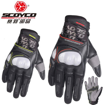 2018 Summer New SCOYCO Motorcycle Glove MC49 reflective knight Motorbike gloves Microfiber leather PU Wear-resistant Non-slip