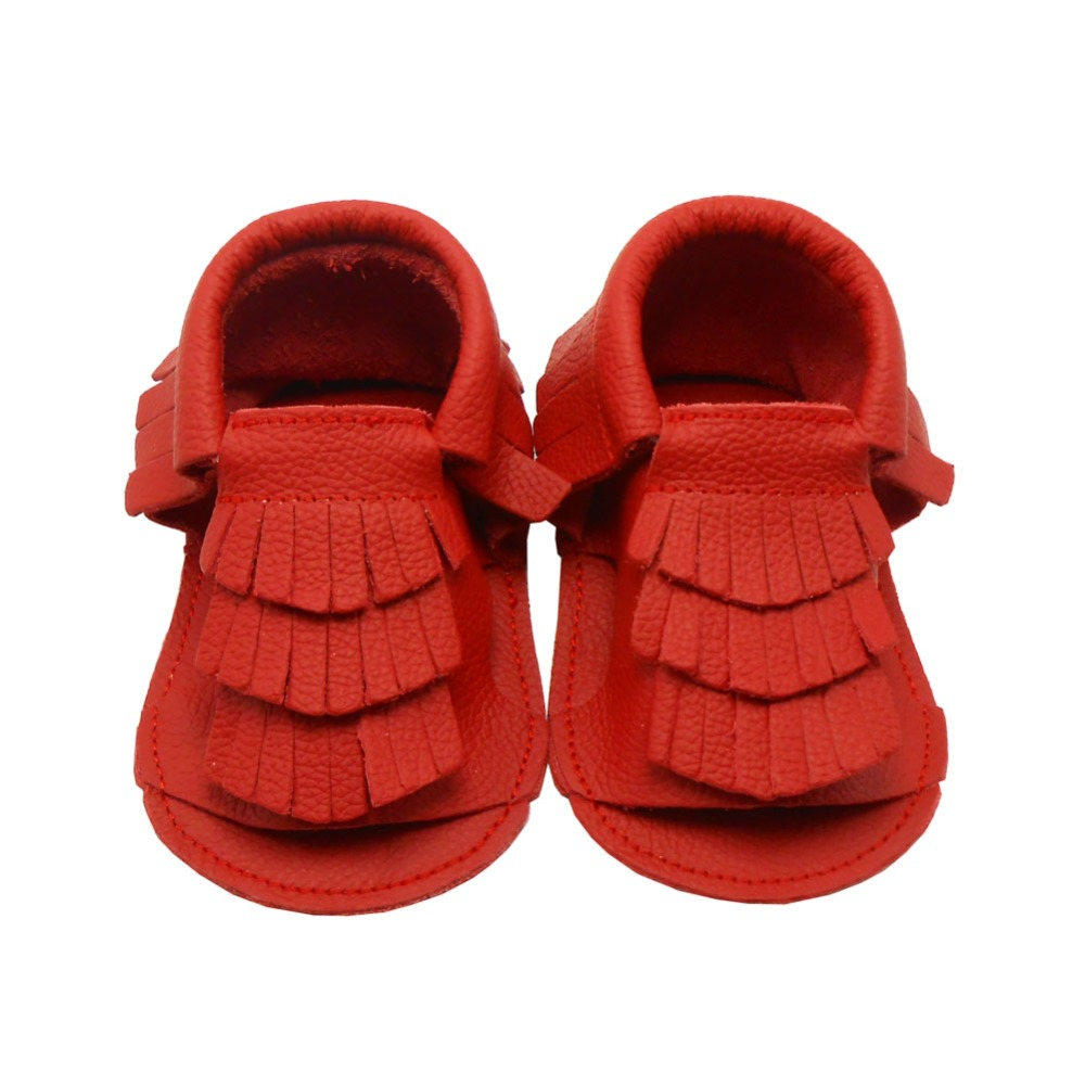 new soft sole leather baby shoes pumpkin brown 18-24m
