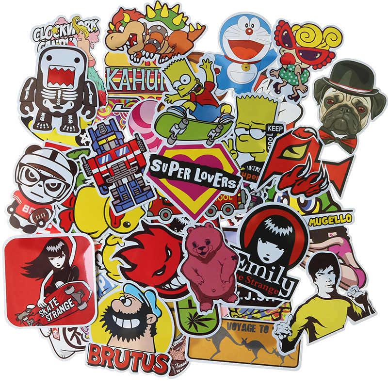 50 Esquí de trineo maleta refrigerador juguete mezcla divertido pegatinas  de dibujos animados casa bricolaje decoración 3aeb8b39ca7