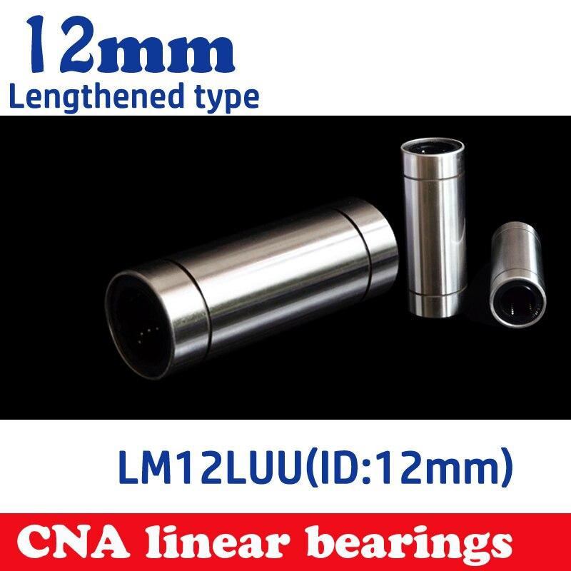 2pcs/lot  LM12LUU 12mm Longer Linear Ball Bearing Bushing Linear Bearings CNC parts 3d printer parts LM12L Free shipping free shipping lm50uu linear bushing 50mm cnc linear bearings