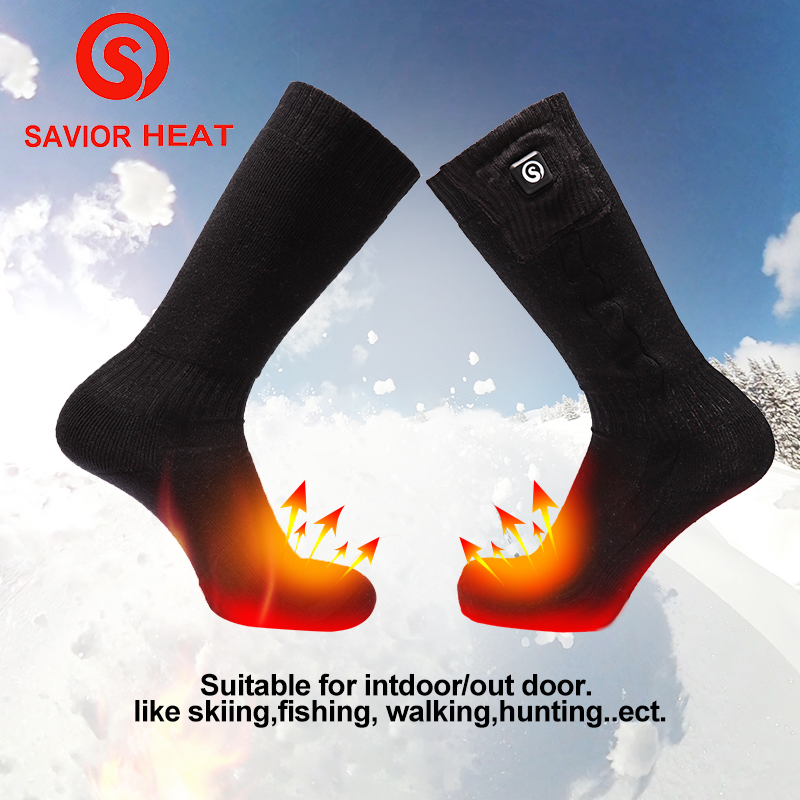 2018 hot sale warm knit sports socks winter ski riding climbing warm socks three files temperature control 7.4V 2200MAH quiksilver riding socks youth brillant 1108221
