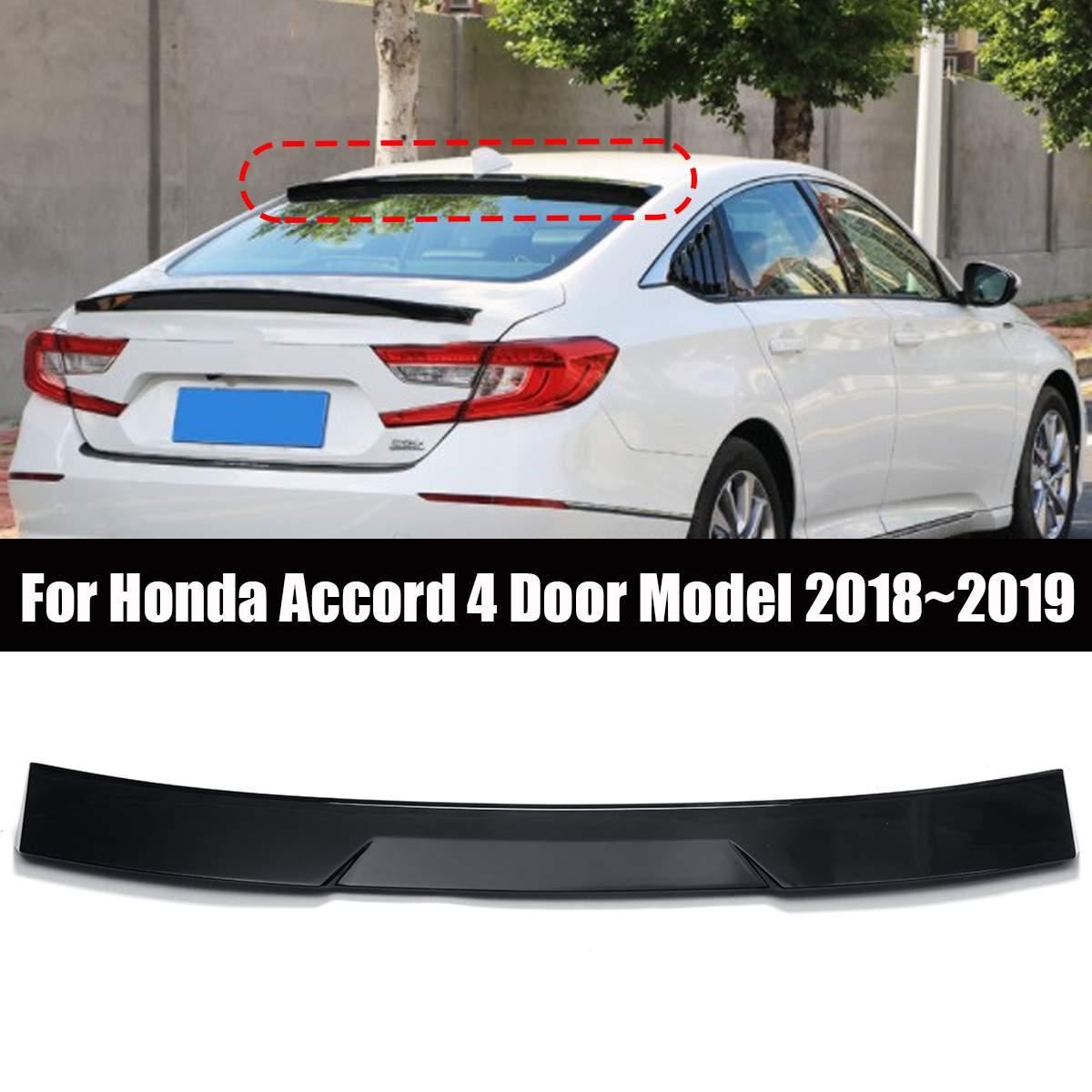 FOR 2016-2018 10TH GEN HONDA CIVIC X SEDAN GLOSSY WHITE REAR WINDOW ROOF SPOILER