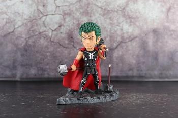 Comic Anime Statue Eiichiro Oda One Piece The straw hat Pirates Roronoa Zoro cos Super Hero Thor 14cm BWFC Figure Figurine Toys