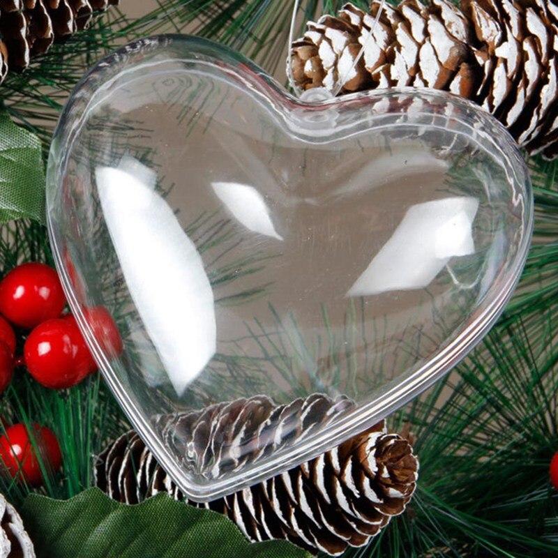 4/6/8 см прозрачная открывающаяся задняя крышка для Пластик на Рождество для девочек, купальная одежда украшения шар ясный орнамент из бамбука подарок коробка подарка украшения