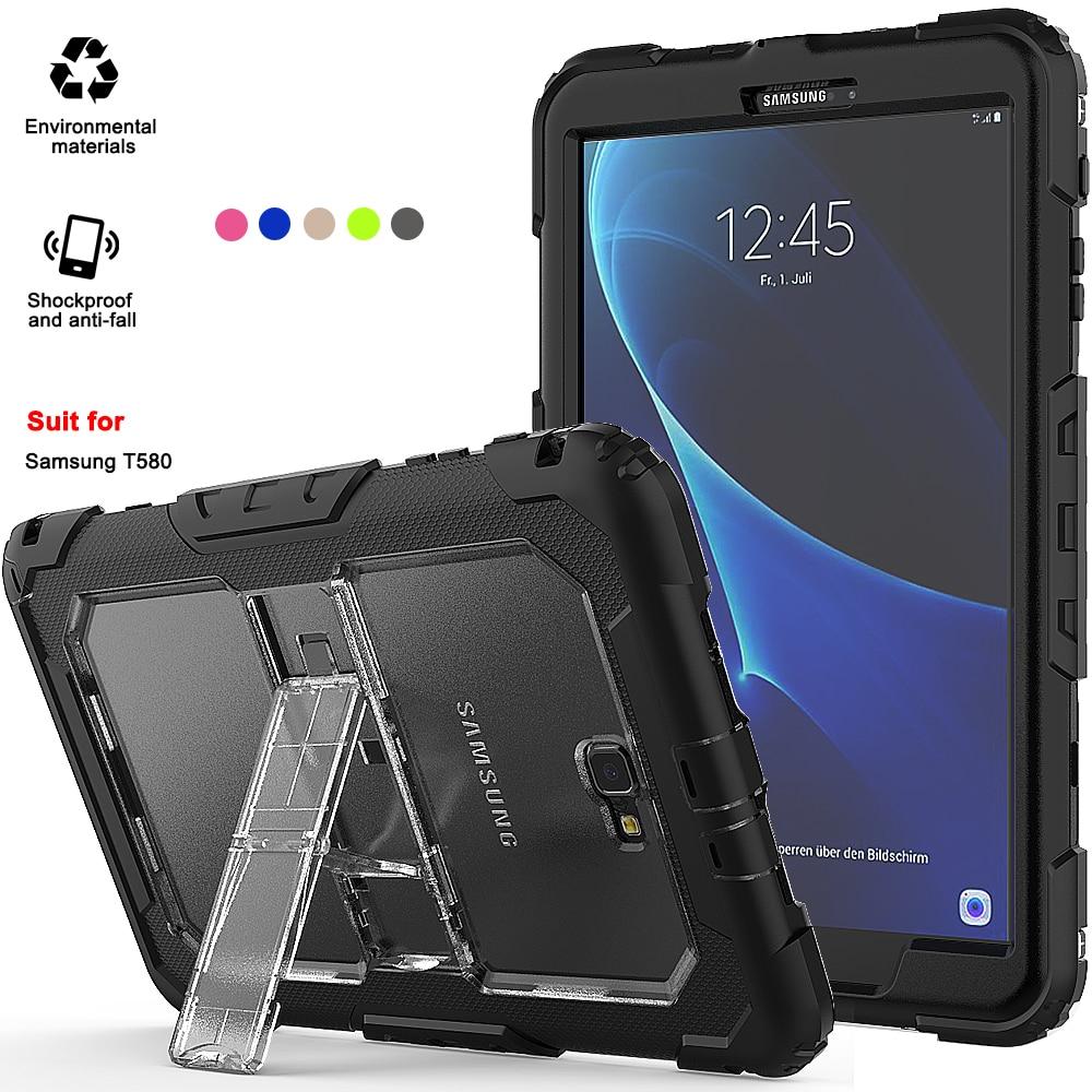 Doux 10.1 Pour tablette Housse Tablette Samsung T580 Étui Étanche Pour Galaxy Tab a 10.1 Avec Bandoulière et support