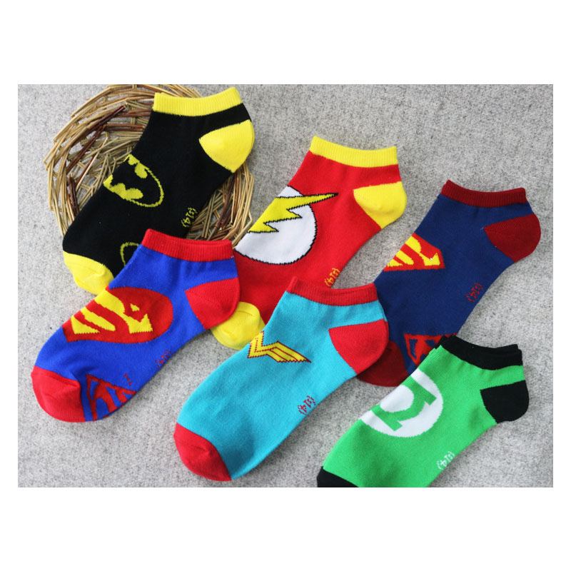 Anime Socks Cos Superman Batman Short Tube Thin Sock Cosplay Accessories Cotton Breathable Socks For Kids Adult Dropshipping