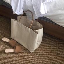 6PCS / LOT Shopping Bag Canvas Eco Fashion High Capacity Tote Reusable Tote Pouch Casual Folding Girls Casual Handbag