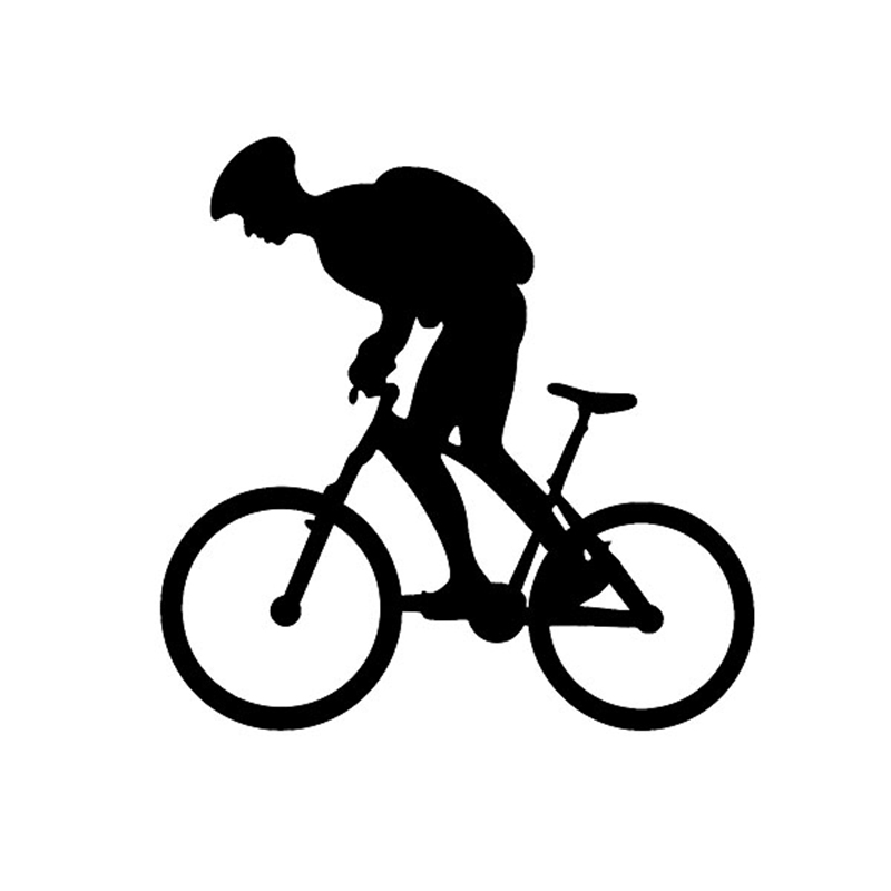 Cycling Lovers Road Bike Swim Run Ironman Triathlon Sports Vinyl Decal For SUV Truck Window Bumper Car Sticker Home Wall horse riding sticker for car rear windshield truck suv bumper auto door laptop kayak canoe art wall die cut vinyl decal 8 colors