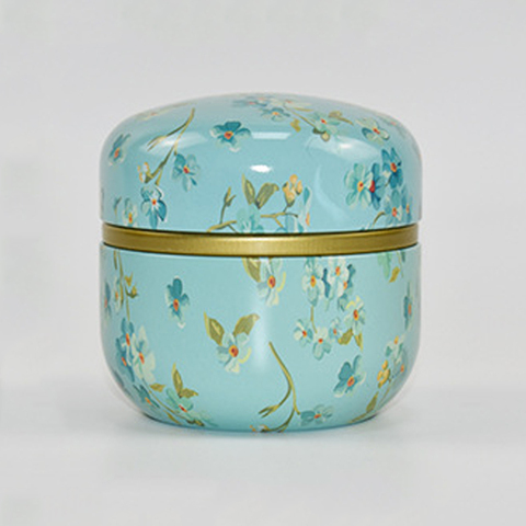 Powder Tea Jar Cans With Lid Storage Boxes Coffee Mini Multifunction Chinese Style Round Metal Pakistan