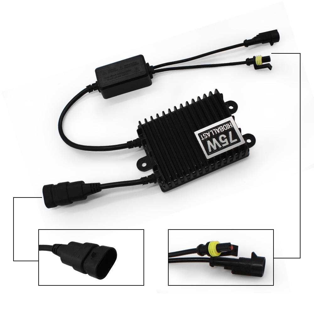 MODERN CAR 2x75W Block Ignition Electronic Ballast Digital Slim Hid Ballast Hid Xenon Ballasts For HID kit Xenon H7 H4 H1 9005 in Car Light Accessories from Automobiles Motorcycles