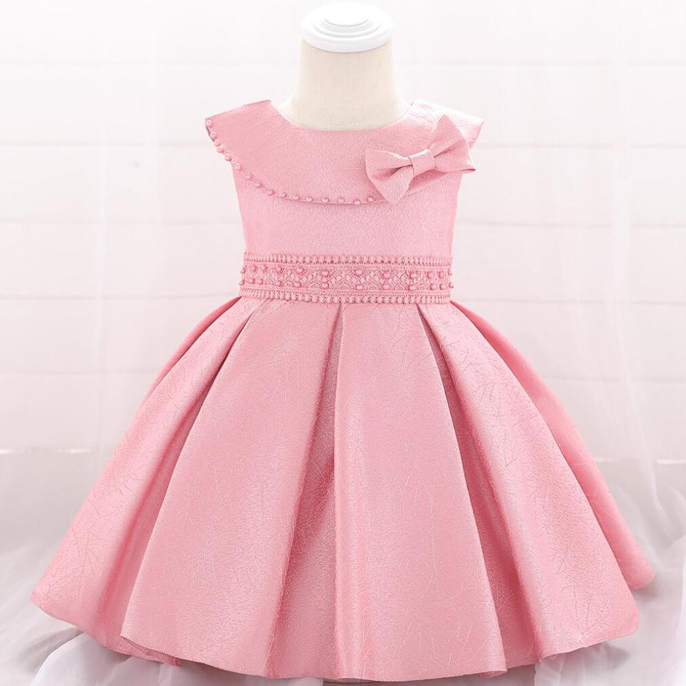 New Year Party Dress Newborn Baby Girls Dress Christening Gown First Birthday Dress for baby Pearl Dresses Toddler(China)