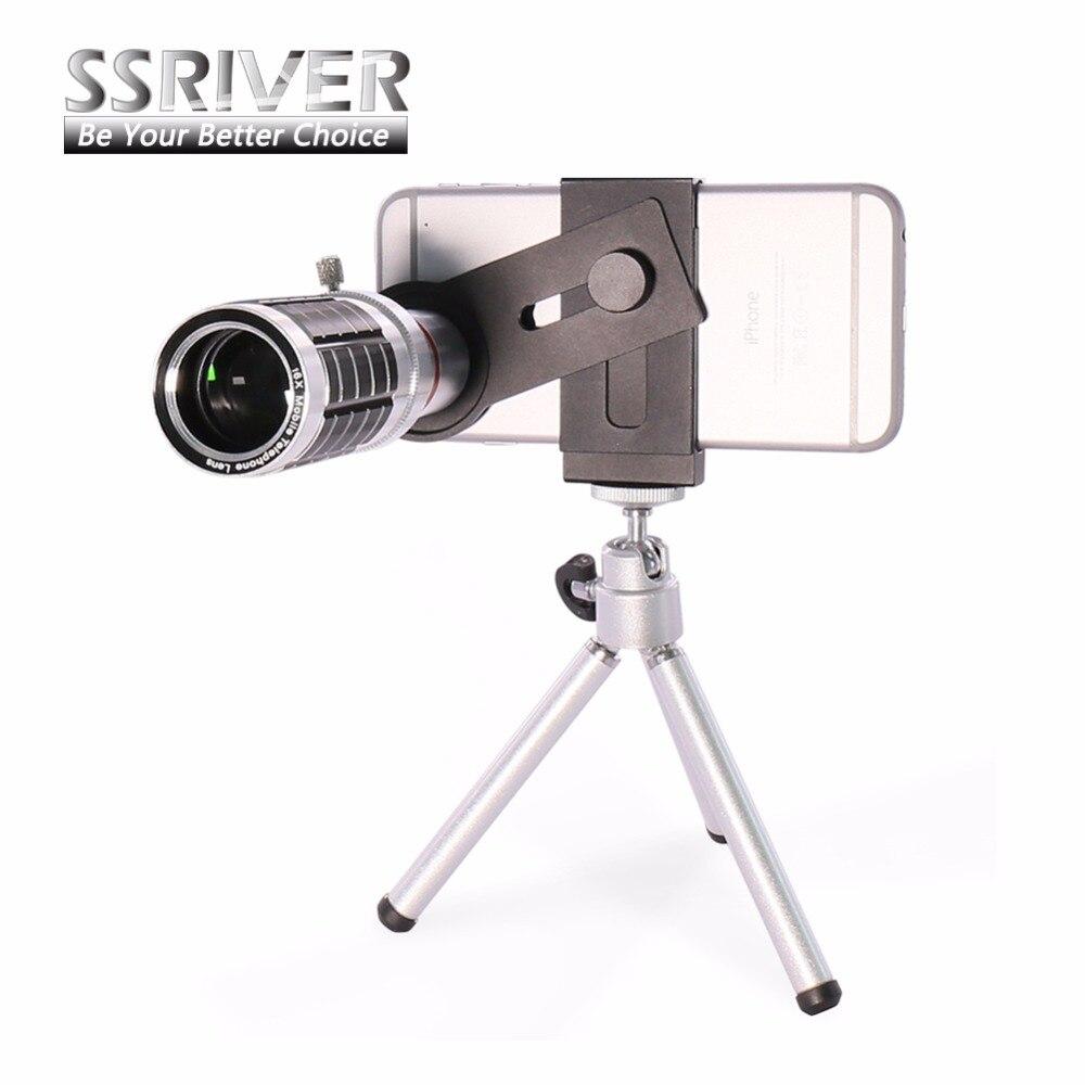 imágenes para SSRIVER Universal 16X de Zoom de la Lente de Teléfono Móvil para el iphone 6 S 6 plus de Samsung Smartphones S7 S6 edge Clip-on Cámara Del Telescopio lente