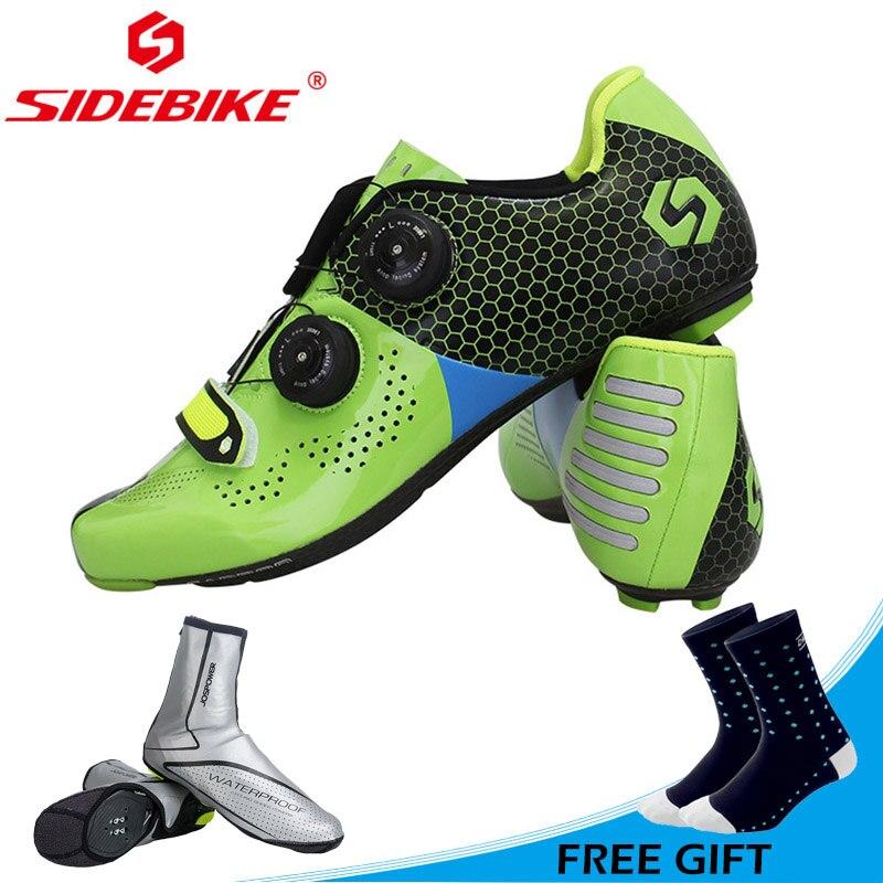 Sidebike nouveaux hommes femmes chaussures de vélo de route ultra-léger équitation chaussures auto-bloquantes vélo chaussures de vélo en Fiber de carbone Sapatos ciclismo