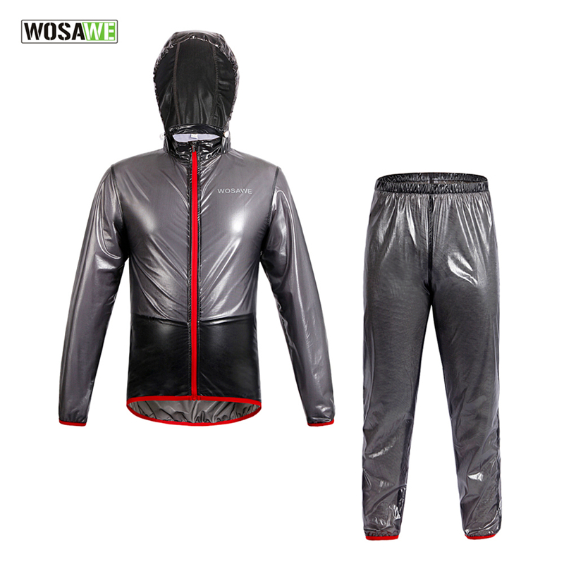 WOSAWE Raincoat Cycling Jacket Waterproof Windproof Outerwear Running MTB Bike Bicycle Rain Jackets Jersey Cycling Clothing цена