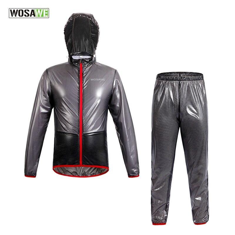 WOSAWE Raincoat Cycling Jacket Waterproof Windproof Outerwear Running MTB Bike Bicycle Rain Jackets Jersey Cycling Clothing