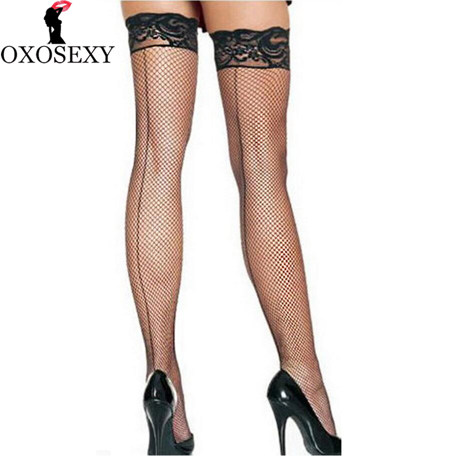 back seam Women Sexy Stockings Thigh High black lace wide Top thin Sheer Knee High Stockings mesh fishnet Stockings Lingerie 360 women ultrathin lace top sheer thigh high silk stockings fashion style new gh
