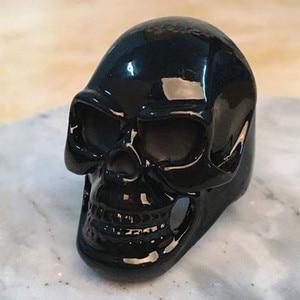 Punk Style Black Skull Head Me