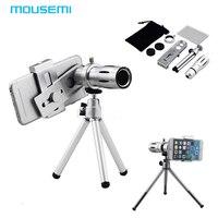 MOUSEMI Universele 12X Zoom Camera Telelens Telefoon Telescoop Met Mount Statief Voor iPhone 5 s 6 Samsung Galaxy Lenovo lenzen