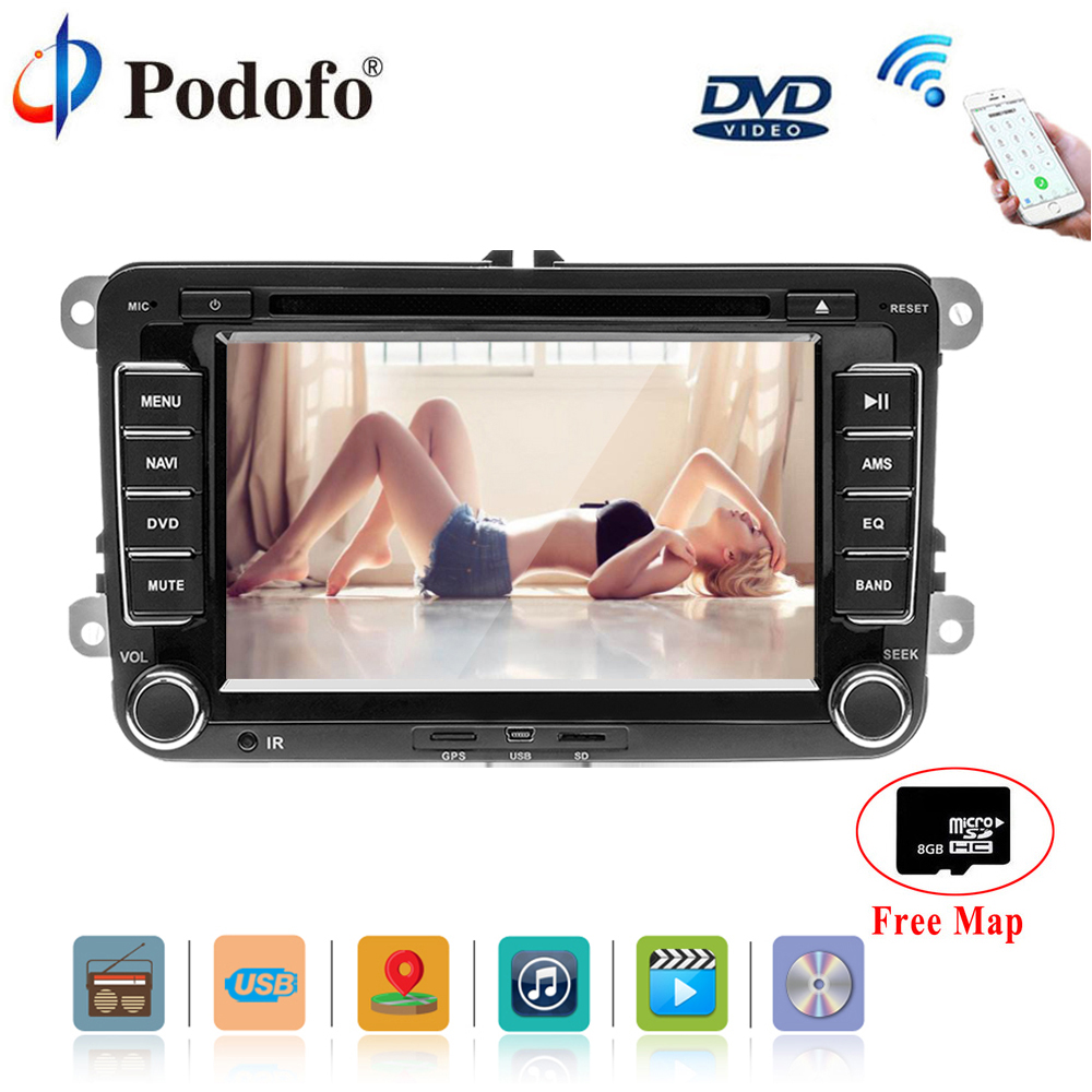 podofo 2din car dvd gps radio stereo player camera for. Black Bedroom Furniture Sets. Home Design Ideas
