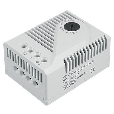 DIN Rail Mounting 3 Terminals Mechanical Hygrostat Thermostat