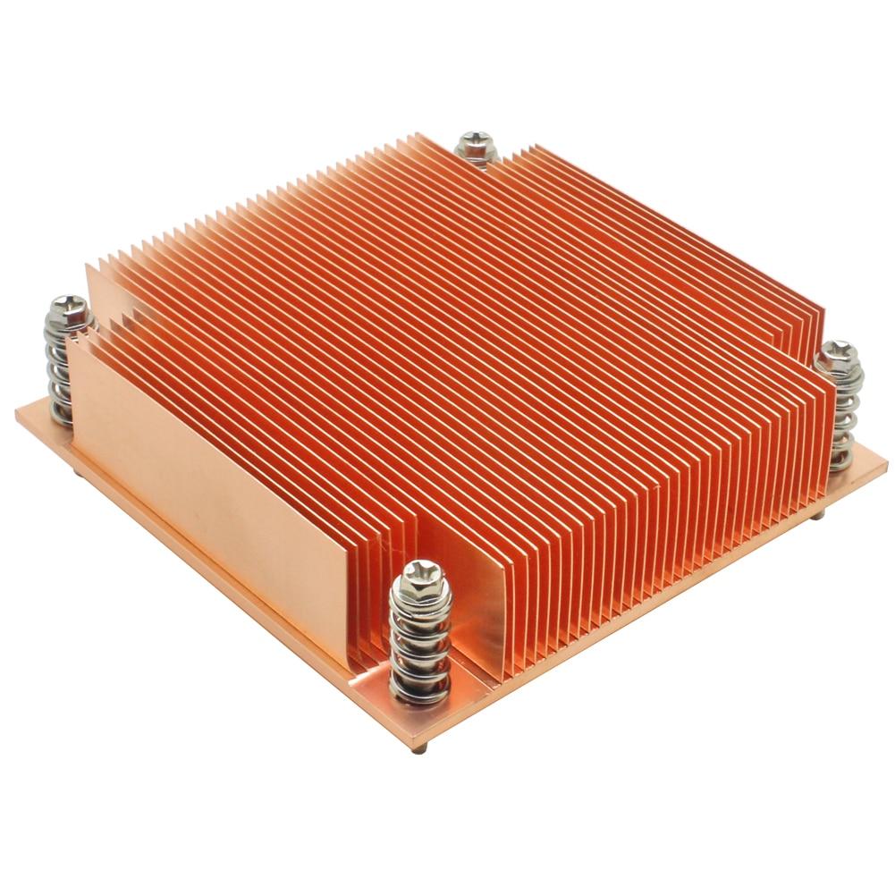 1U Server CPU Cooler Copper Heatsink Radiator For Intel Core Xeon LGA 1155 1156 1150 1151 Industrial Computer Passive Cooling(China)