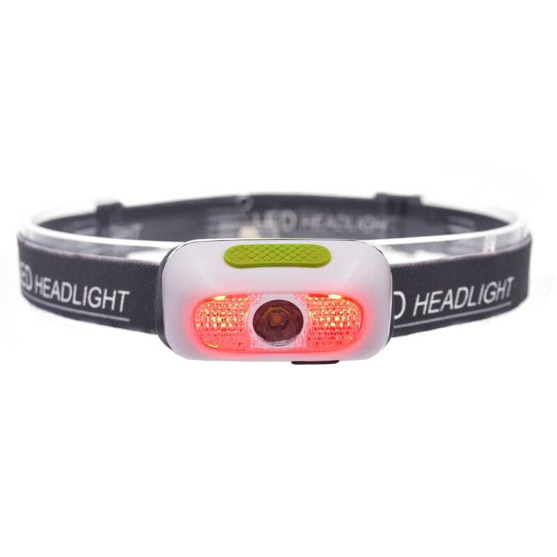 2000LM Waterproof LED R5 Mini Headlamp Headlight linterna frontal USB Rechargeable Head Torch Flashlight Lamp Light for Camping