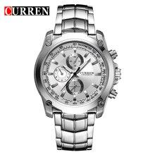 2016 CURREN Lujo Marca Hombres Llenos de Acero Relojes de pulsera de Hombre Casual de Negocios Reloj Impermeable Relojes De Cuarzo relogio masculino 8025