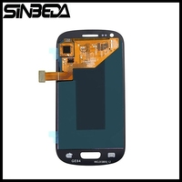 Sinbeda 파란색 또는 흰색 LCD 화면 삼성 갤럭시 S3 미니 i8190 i8190N i8195 LCD 디스플레이 및 터치 스크린 디지
