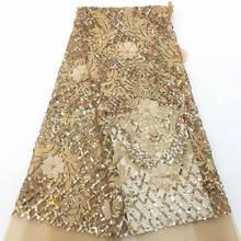 장식 조각 프랑스어 레이스 패브릭 고품질 아프리카 tulle 수 놓은 꽃 그물 레이스 패브릭 웨딩 드레스 그린