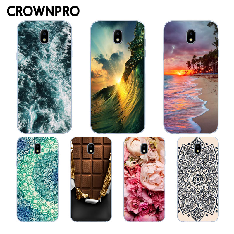 Galleria fotografica CROWNPRO TPU Case FOR Samsung J3 2017 Case Cover Soft Silicone Back FOR Samsung Galaxy J3 7 2017 J330 J330F Mobile Phone Cases