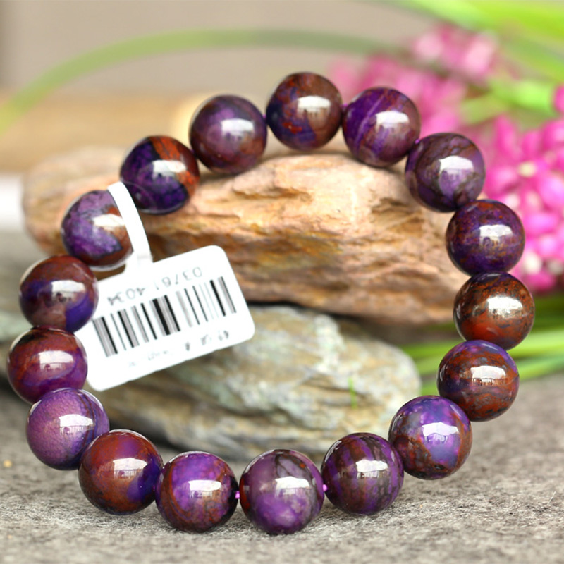 Wholesale Genuine Natural Purple Sugilite Stretch Finish Bracelet Round Big beads 11mm 03761Wholesale Genuine Natural Purple Sugilite Stretch Finish Bracelet Round Big beads 11mm 03761