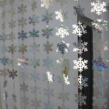 Christmas drop ornaments laser sequins snowflake festive party supplies decoration pendant