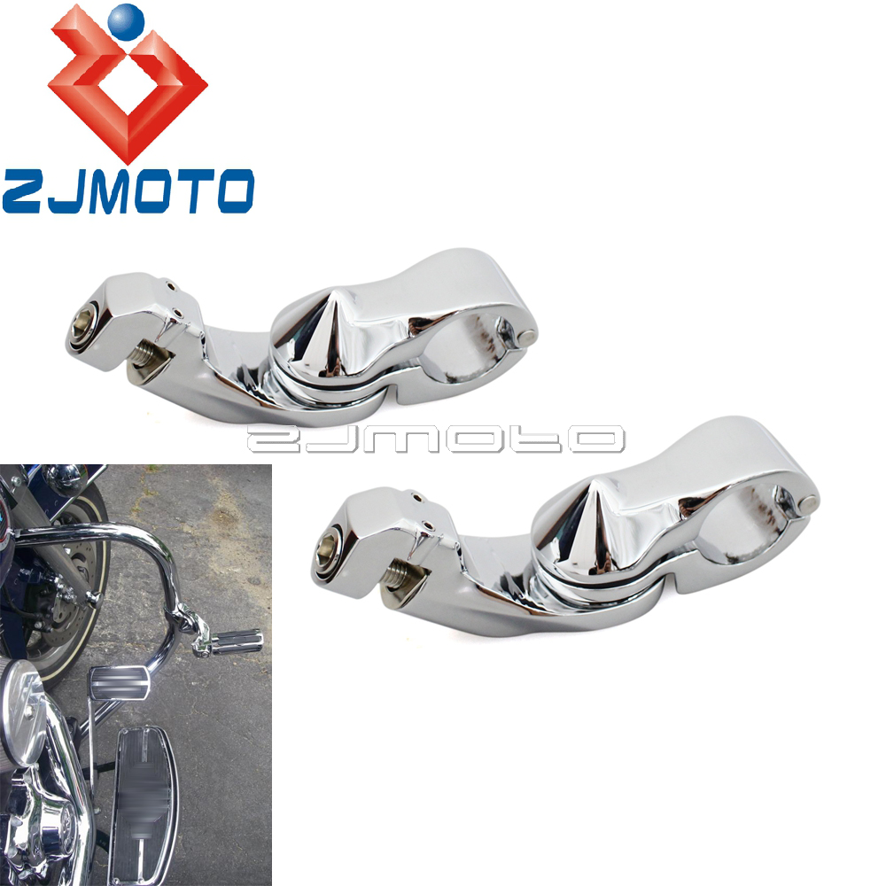 Chrome Motorcycle Short Angled 1-1/4
